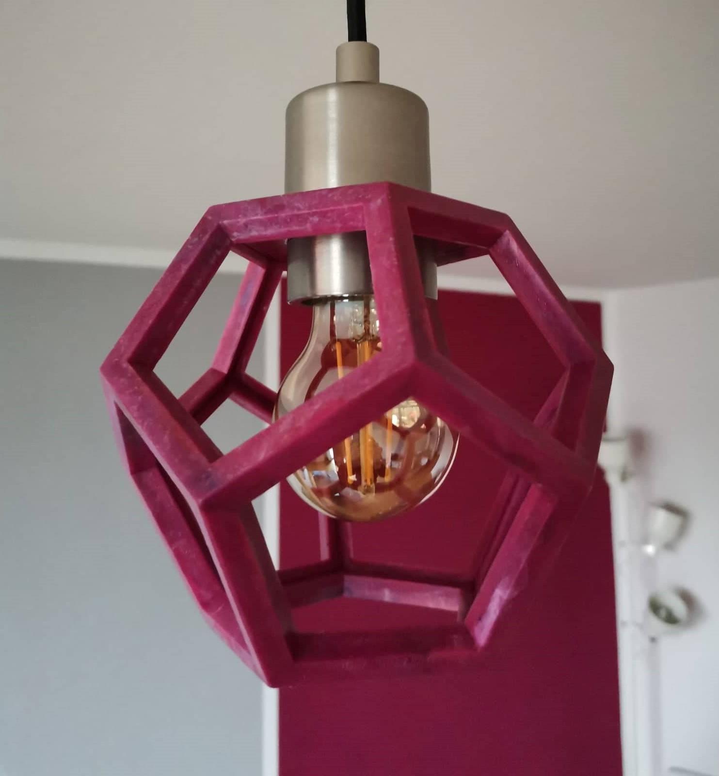 Hanging lamp 'Framo' pink